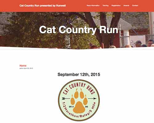 Cat Country Run event site